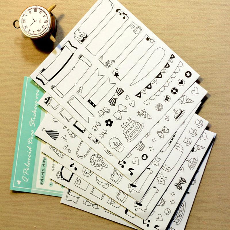 Venta al por mayor 6 hoja 30 hoja lbum cuaderno foto mensaje almohadillas notas del diario - Decorar album de fotos por dentro ...