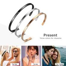 4 Color Personalised Gifts ID Bangles For Lovers