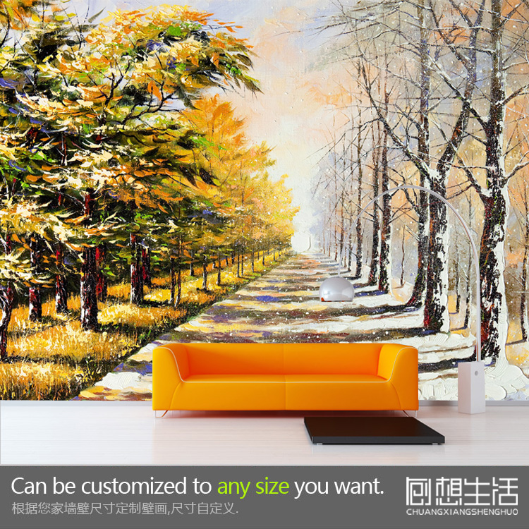 Forest landscape natural tree large 3D stereoscopic wallpaper mural custom wall paper the living room backdrop TV personality