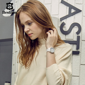 Image 4 - นาฬิกาแฟชั่นผู้หญิงนาฬิกาข้อมือเพชรเล็บดอกไม้หญิงสีขาวเซรามิคควอตซ์นาฬิกากันน้ำ Relojes 2018 B6