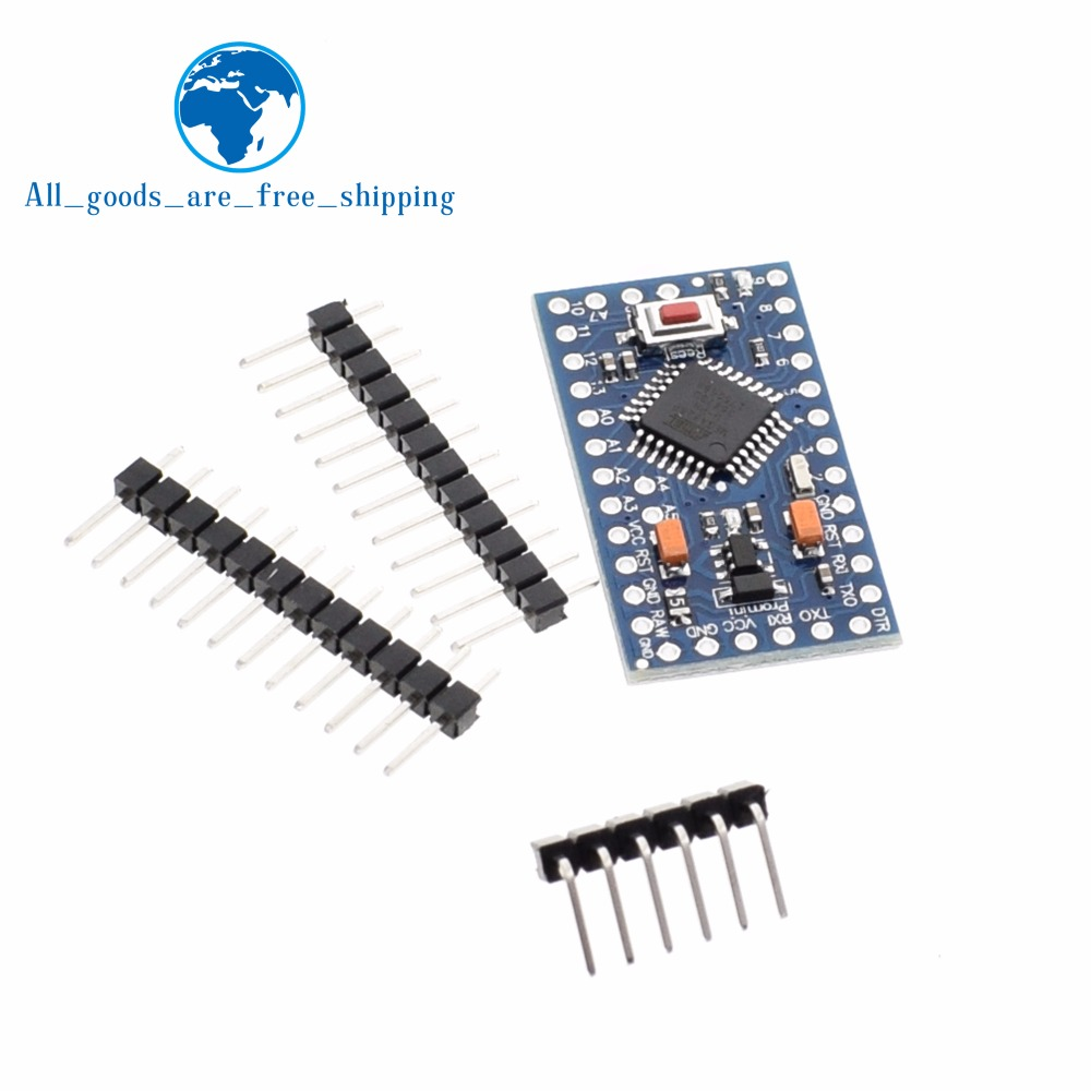 TZT 1pcs/lot ATMEGA328P Pro Mini 328 Mini ATMEGA328 3.3V/8MHZ 5V/16MHz for  Arduino