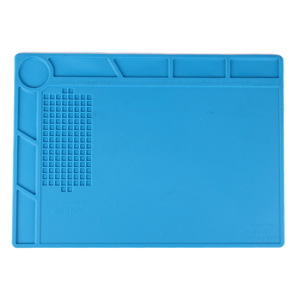 1pc Silicone Heat-resistant Silicone Pad Heat Gun BGA Soldering Station Repair Insulation Pad Desk Mat Maintenance Platform