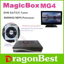 5 unids caja mágica MG4 HD DVB-S2 / T2 / C 800 MHZ MIPS procesador 256 MB Flash 512 MB DDR3 receptor de satélite con wifi envío gratuito sh libre