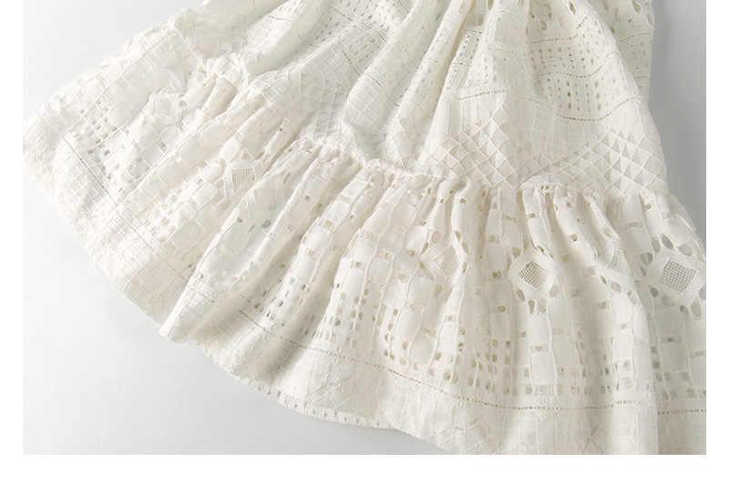 8 9 11 13 14 ปีสาวชุดแฟชั่นน่ารักน่ารักลูกไม้สีขาว Roupas Infantis Menina แขนสั้นอังกฤษชุดเจ้าหญิง