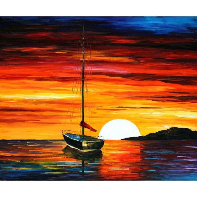 217 Best Images About Paint Colors On Pinterest: Paysage Peinture À L'huile Photos Coucher Du Soleil Par La