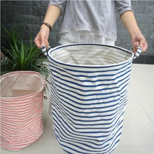2pcs /lot Zakka Style Cotton Cloth Storage Basket Oversized Toy Box / Cesto  Roupa Suja / Canvas Storage Buckets / Blue U0026 Pink