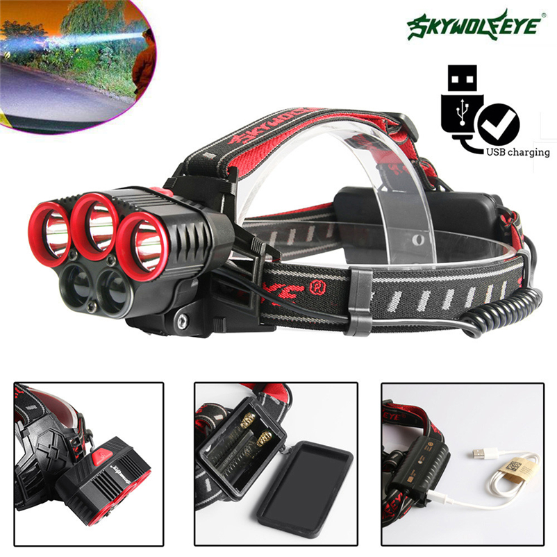 1500LM T6 Led Headlamp Zoomable Headlight Waterproof Head Torch flashlight Head lamp by 18650 Battery Bicycle Light #FS#4MY11