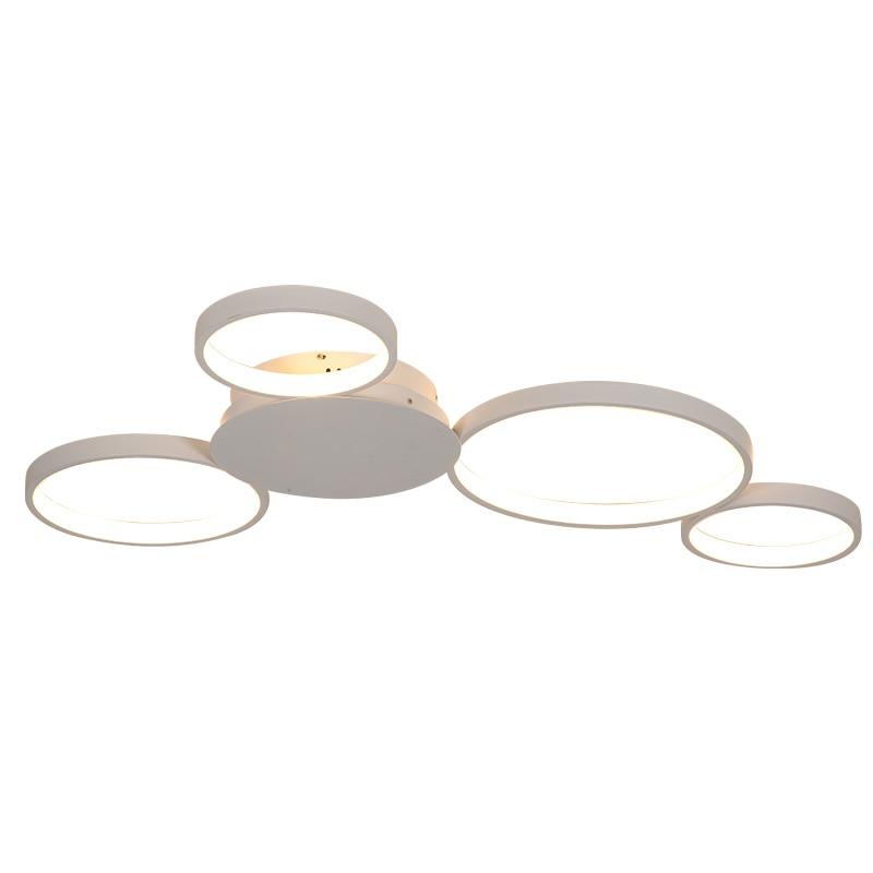 Image 5 - Coffee or White Finish Modern led Ceiling Chandelier Lights For Living Room Master Room AC85 265V Led Chandelier Fixtures-in Chandeliers from Lights & Lighting