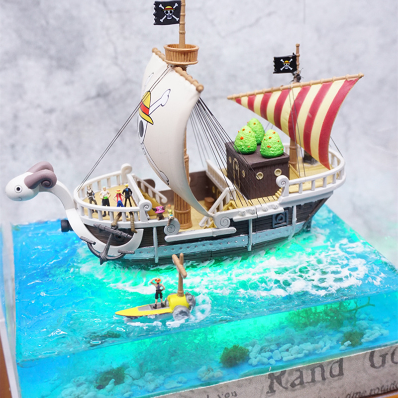 Anime DIY Hand made Beautiful scene & LED One Piece Figures Going Merry Ship Model PVC One Piece Action Figure Luffy Toys model камера заднего вида vizant ca 9864