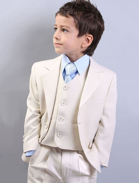 Boy Wedding Dress Ivory Jacket Pant Vest Bm 0189 Kids Tuxedo