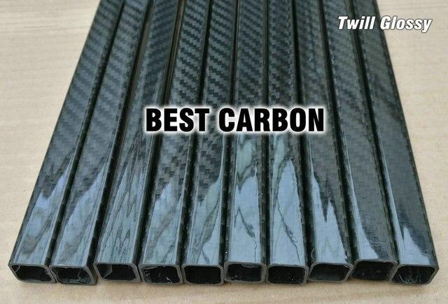 15mm x 13mm x 1000mm cuadrado de alta calidad 3 K tejido de fibra de carbono enrollado/ brazo de cola de carbono de tubo tejido