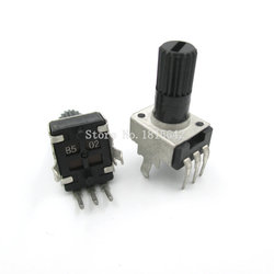 Potenciómetro de resistencia ajustable RV09 B5K B502, eje de 12,5mm, 3 pines, 0932, Vertical, ajustable, olla WH09, 5 unids/lote