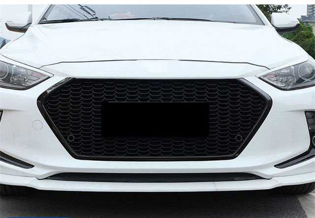 Black High Quality Car Front Grill Grille Fit For Hyundai Elantra 2016 2018