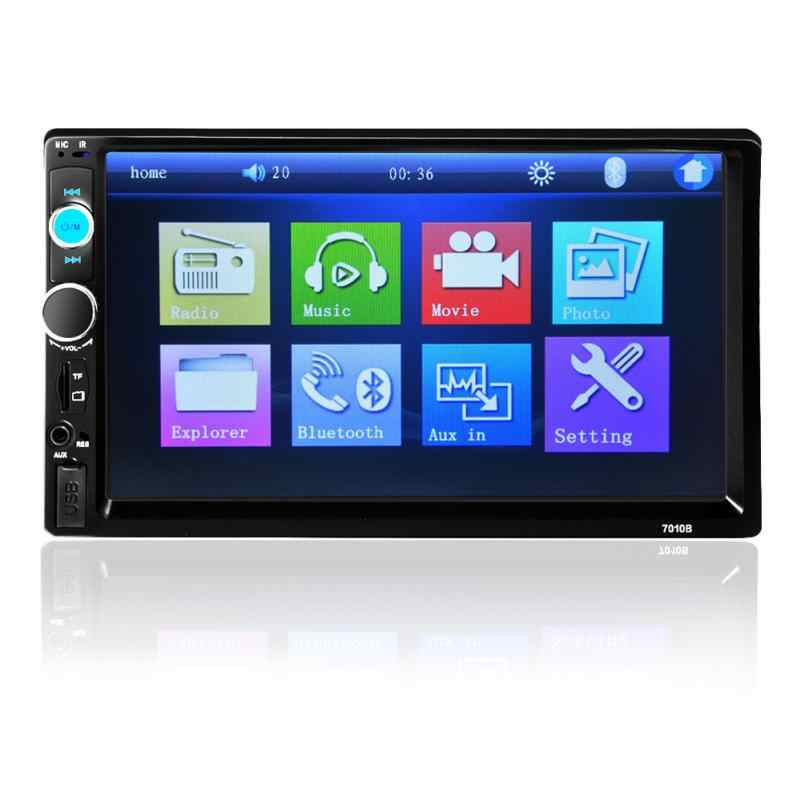 "Confiable auto radio estéreo 7 ""HD pantalla táctil Bluetooth 2 DIN/FM/MP5/MP3/USB/AUX dropshipping. Exclusivo. jun29"