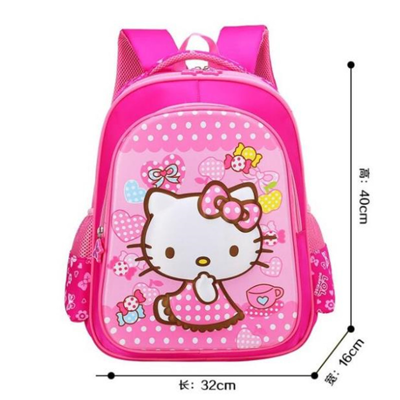 Hello Kitty Children School Bags For Girls Kids Schoolbag Cartoon Kids School Backpacks Mochila Infantil