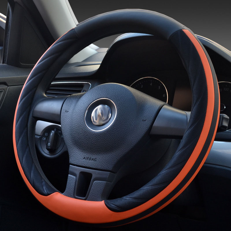 Car Steering Wheel Cover Universal Set of two-color Contrast Color Fashion Non-slip 35/36/37/38/39/40 cm for bmw ford volkswagen