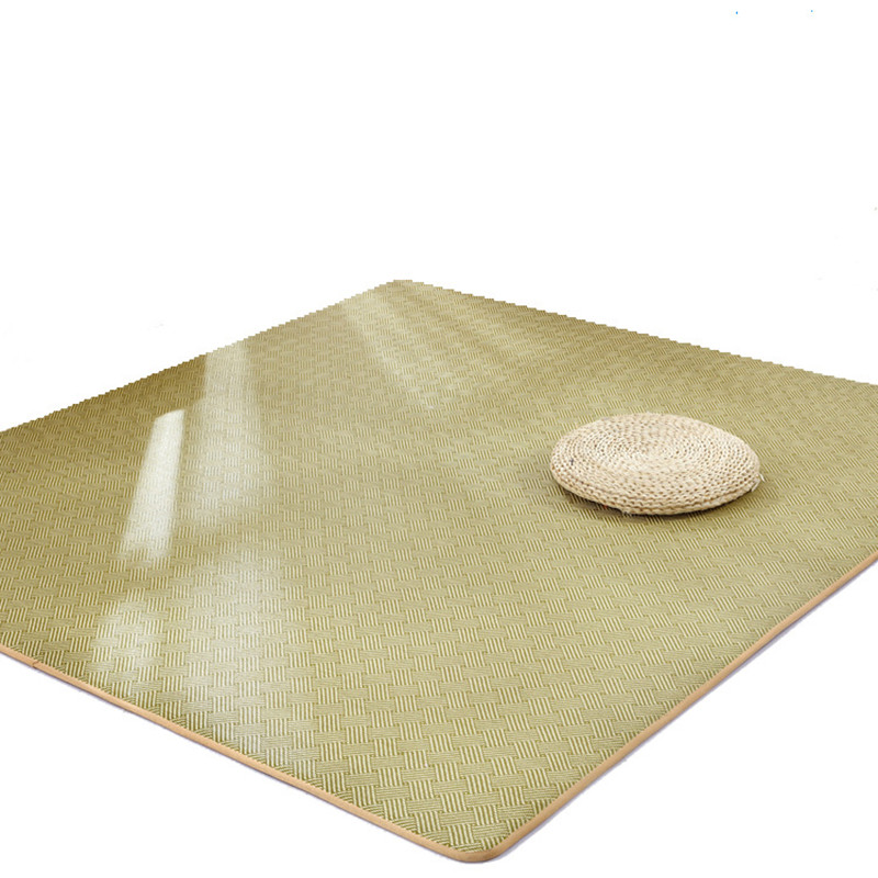 Summer Japanese Carpet Thicken Tatami Rattan seats carpets Foldable Living room bedroom Floor Mat Rugs Dormitory student bed Rug in Carpet from Home Garden