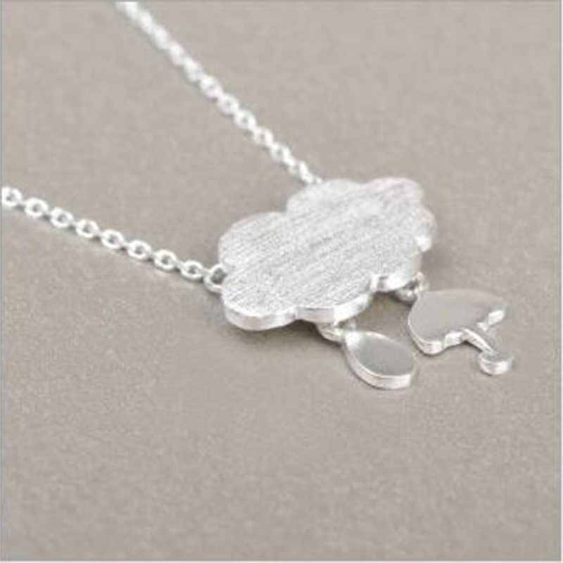 XIYANIKE nowe produkty 925 Sterling Silver Rain Cloud parasol kreatywność proste naszyjniki pierścionek zaręczynowy dla dziewczyna prezent VNS8401