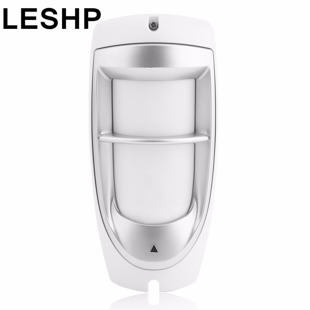 LESHP IP45 Waterproof Pet Immunity Outdoor Digital Motion Dual PIR Detector 90 Degree Dual Optical Filtering Sensor System White