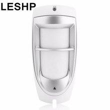 LESHP IP45 Waterproof Pet Immunity Outdoor Digital Motion Dual PIR Detector 90