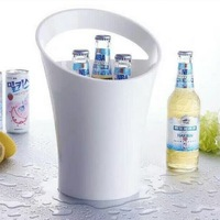 New Fashion 3L Acrylic White Ice Buckets Wine Coolers Wine Holder for Moet Chandon Red Wine Beer Party Bucket