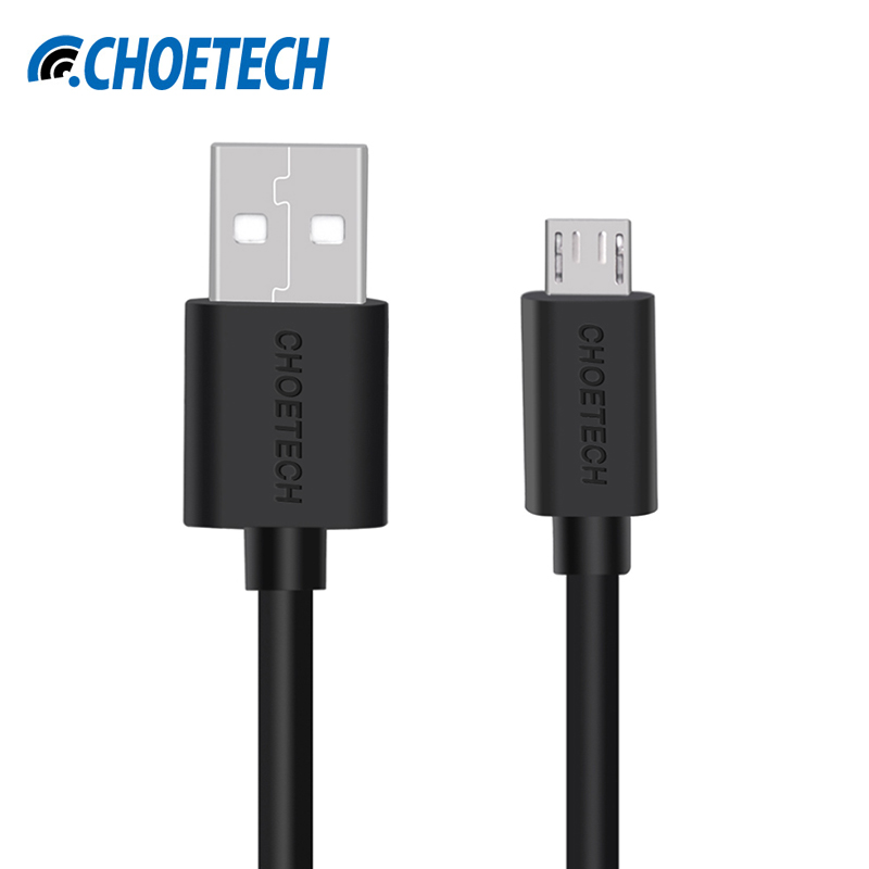 CHOETECH Original Micro USB Cable Fast Charging Black White Mobile Phone Cable 50CM Micro USB 2