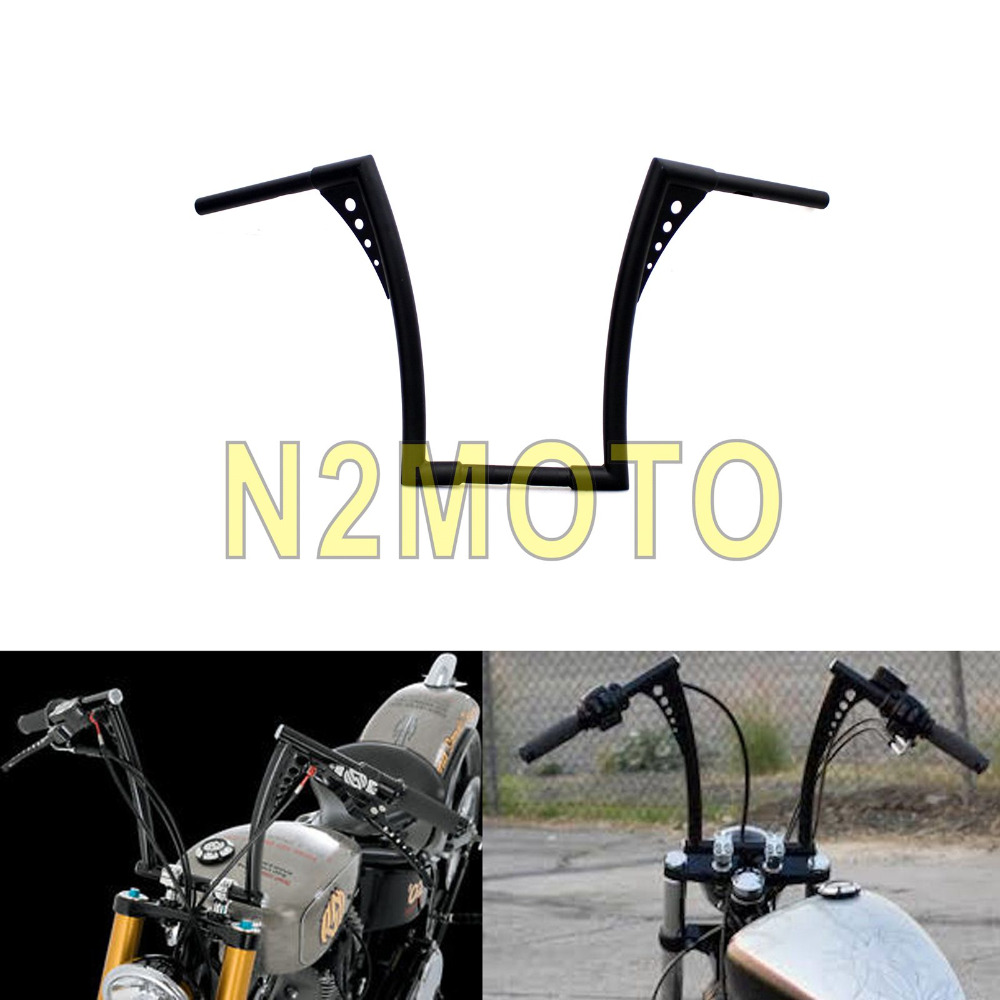motorcycle bars handlebar ape fat sportster bar harley hanger rise xl custom touring flst fxst motorcycles mouse zoom