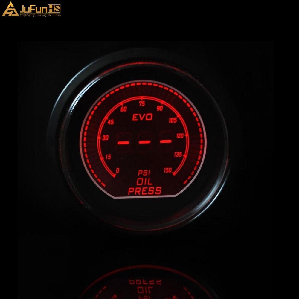 52mm Mobil Pengukur Tekanan Minyak Psi DC 12 V Auto Biru Merah LED - Suku cadang mobil - Foto 2