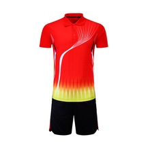 17/18 table tennis jersey + shorts; men & women badminton training suit short-sleeved shirt sportswear shuttlecock set tracksuit