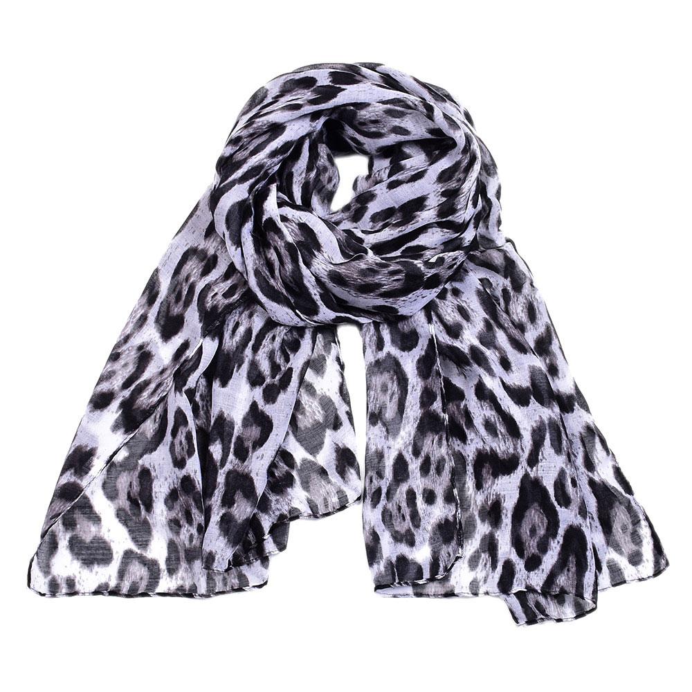New Women/'s Black Floral Print Soft Wrap Shawl Chiffon Scarf Long Stole