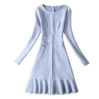 Осень/зима элегантные женские Bodycon Короткие партии Dresss замшевые мини Винтаж платье с длинным рукавом плюс Размеры 3XL