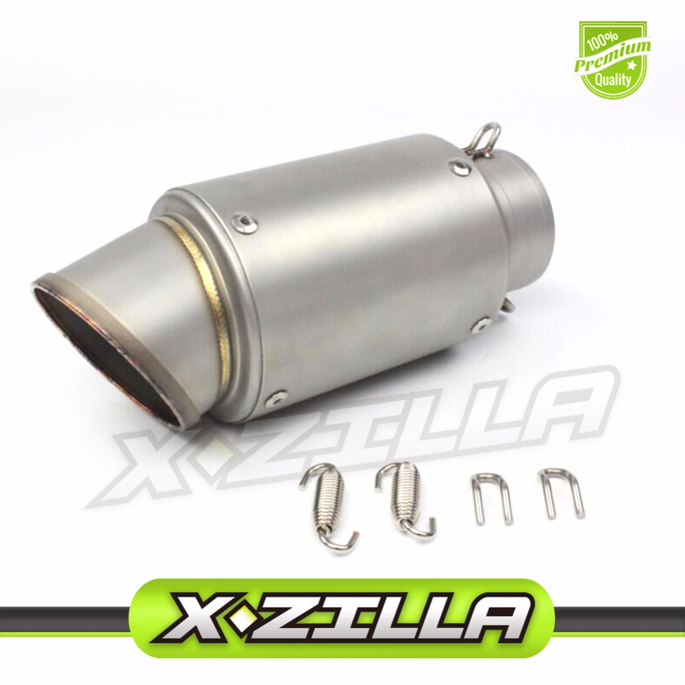 Universal AR Inlet 51mm 61mm 63mm 65mm Customised Motorcycle Exhaust Muffler Pipe Stainless Steel Motorbike Muffler Exhaust Pipe genuine inlet t304 stainless steel exhaust muffler tips for mitsubishi lancer ex