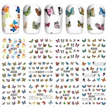 12 sheets mixed design Nail Art Water Transfer decals NAIL STICKER SLIDER TATTOO Nail Accessories tools beauty butterfly A348
