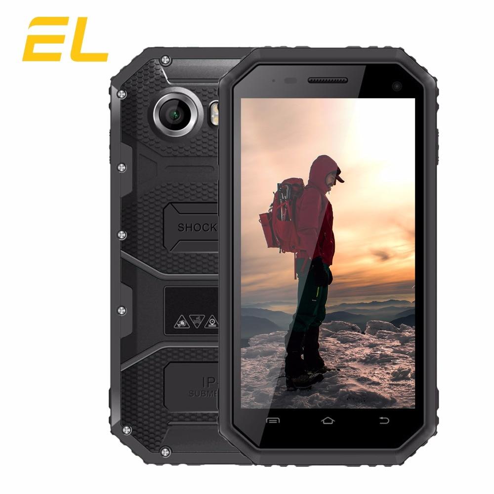 EL W6S Original Phone IP68 Waterproof Dustproof Shockproof Smartphone 4.5 Inch 1GB+8GB Android 7.0 Dual Camera Mobile Phone 3G