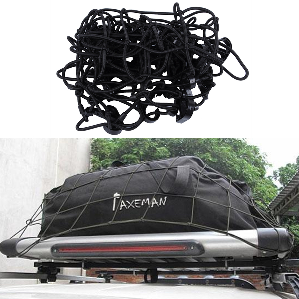 100 x 80cm Car Mesh Net Black Rubber Band Automobile Trunk Luggage Storage Cargo Organizer Accessories Car Nets