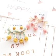 Korea Handmade Cartoon Bowknot Yarn ball Winter Women Drop Earrings Dangle Fashion Jewelry Accessories-JQD5