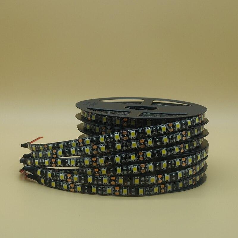 50m/lot 10*5m LED Strip 5050 ip65/non Waterproof DC12V 60LEDs/m Flexible LED Light RGB 5050 LED diode Stripe tape ribbon lamp