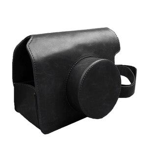 Image 3 - Túi Da PU Da Ốp Lưng Túi Bảo Vệ/Dây Đeo Vai Màu Đen Hoặc Nâu Cho Liền Fujifilm Instax Wide 300 In camera