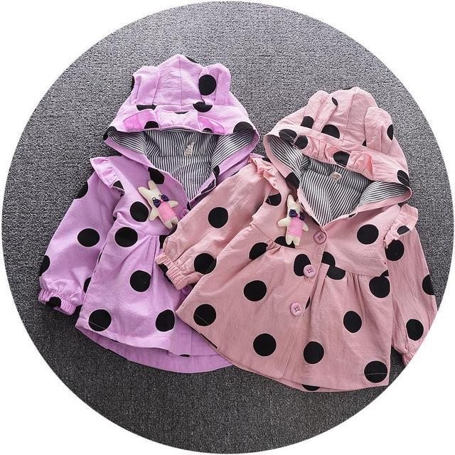 Casacos de Moda da Menina do bebê Meninas Outerwear Casaco infantil Primavera/Outono Bebê Casacos