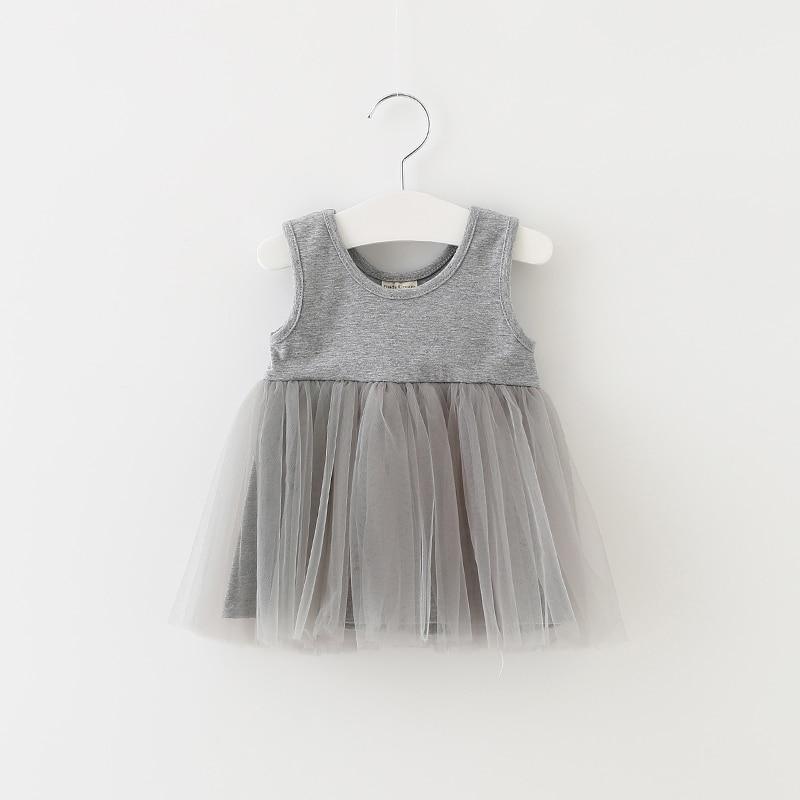 Sun Moon Kids 1 Year Birthday Dress Sleeveless Newborn Baby Girl Dress Casual Kids Dresses For Wedding Party Princess Vestidos