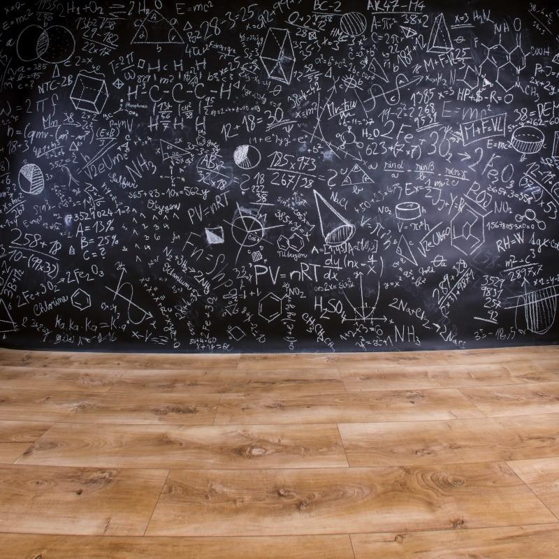 plain wooden floor with a blackboard 15