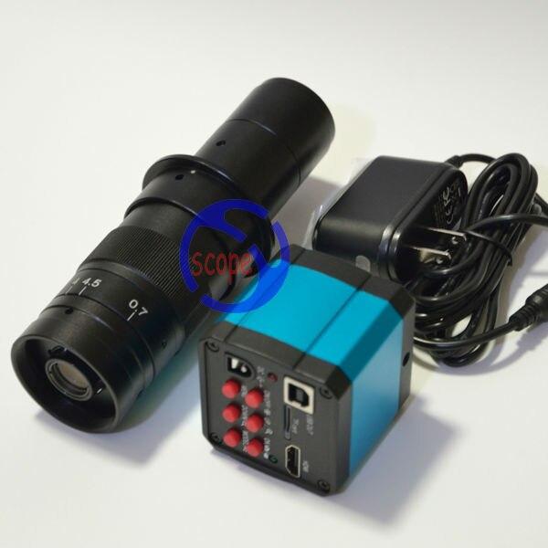 FYSCOPE HD 14MP HDMI 720P USB Digital Industry Video Microscope Camera Set TF Card Video Recorder + 180X C-MOUNT Zoom Lens