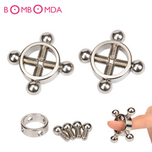 1 pair Stainless Steel Nipples Clamps Papilla Stimulator Adult Games Erotic Sex Products Bdsm Bondage Flirt Toys For couples