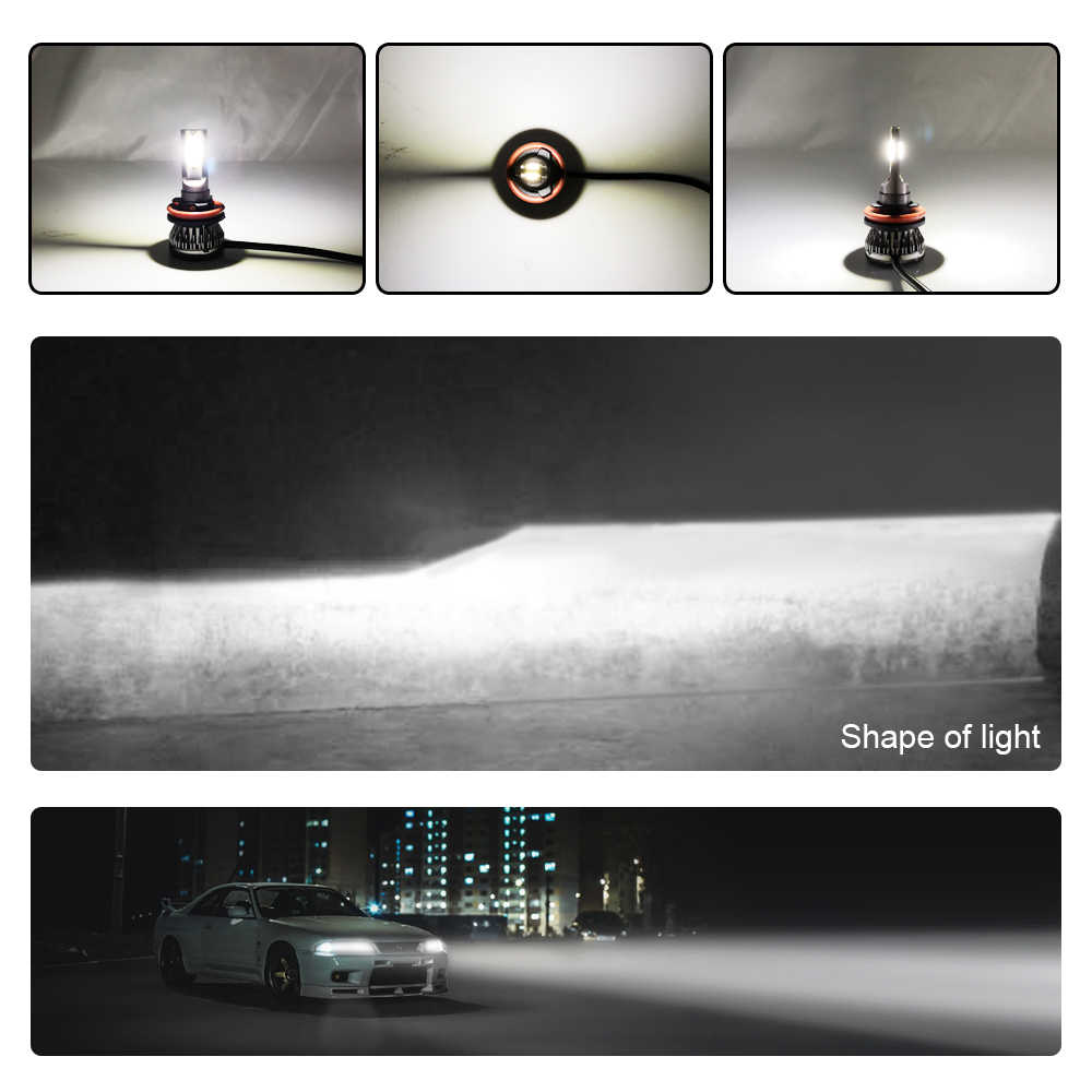 CROSSSUNAI Mini 1 Car LED Headlight H4 H1 H7 9005 9006 Led Lamp 36W Auto light 8000LM 6000K 12V 24V Accessories Car Styling