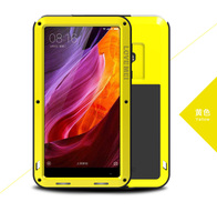LOVE MEI For Xiaomi Mi Mix Powerful Mobile Case Metal Silicone Tempered Glass Xiomi MiMix Dropproof