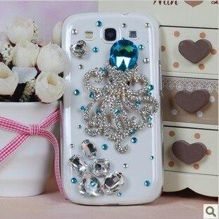 Luxury Fashion Diamond for Samsung Galaxy S3 i9300 mobile phone case Octopus S3 Case Capa Celular Free Shipping