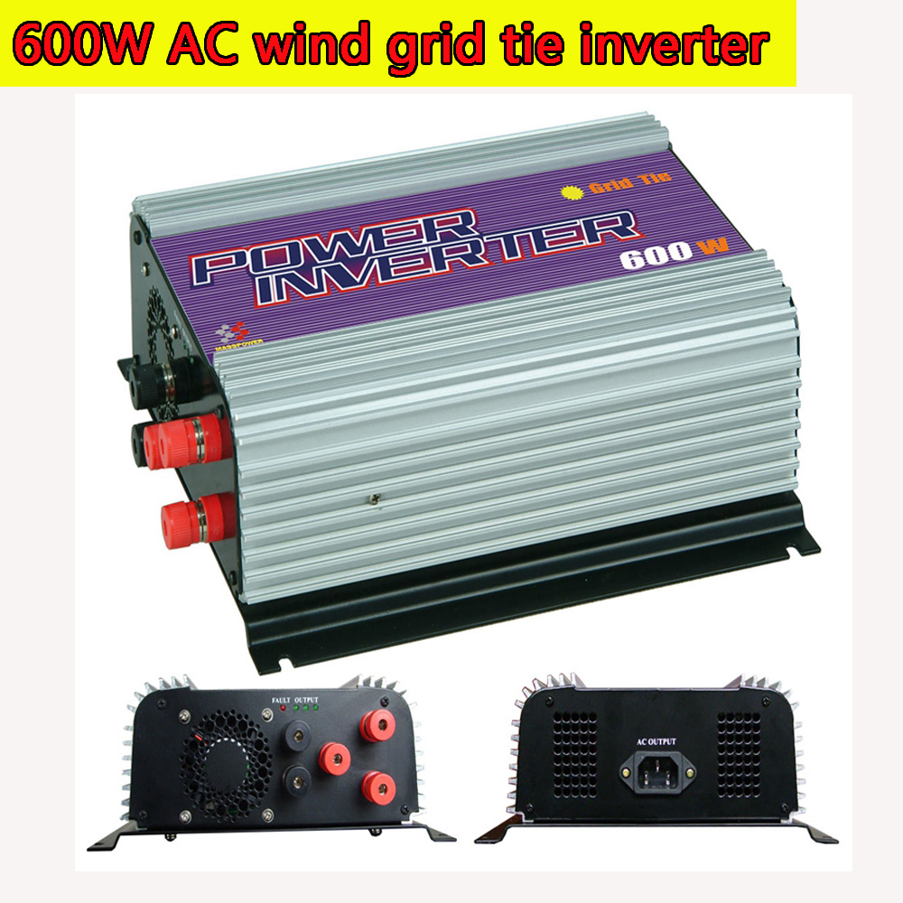 600W Grid Tie Inverter with Dump Load for  3 Phase AC Wind Turbine Generator MPPT Pure Since Wave Wind On Grid Inverter NEW solar power on grid tie mini 300w inverter with mppt funciton dc 10 8 30v input to ac output no extra shipping fee