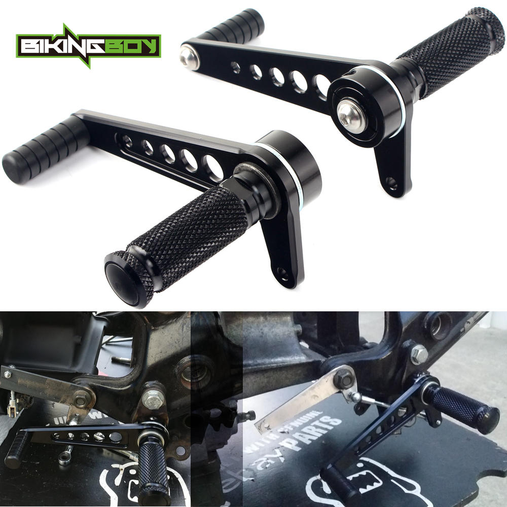 Universal Motorcycle Rearsets Footpegs Cafe Racer Foot Rests Rear Sets for Suzuki GT125 GT250 GT500 GT750