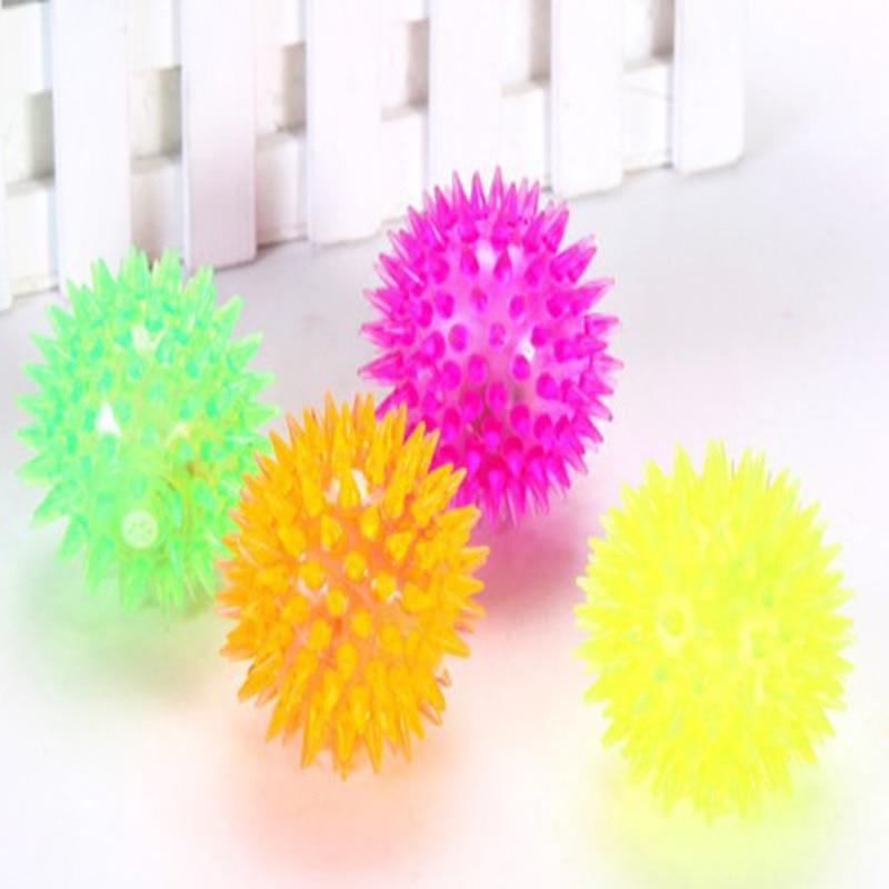 1 Piece 6CM Random Color Kids LED Flash Balls Toys Outdoor Activities Entertainment Children Silicone Ball Vocal Toys P15