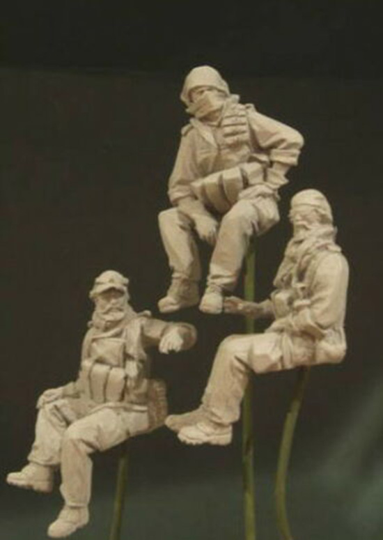 1/35 US Special Crew in <font><b>Afghanistan</b></font> include 3 Resin figure Model kits Miniature gk Unassembly Unpainted image